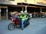 Mike & Wendy depart for the Blue Ridge Parkway on Wednesday morning on his 1985 BMW K100RT