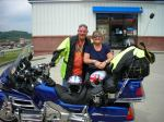 Doug & Sandra in Blairsville, Ga.  I love their Union Jack helmets!