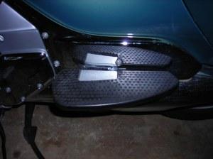 The adjustable BMW floorboard.