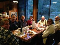 Most of our group at dinner at the Iron Horse.