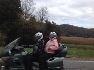 Donna and I on the way home around Murphy, NC.