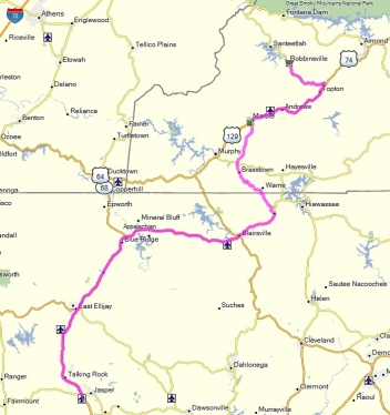 Our route home from the Iron Horse.