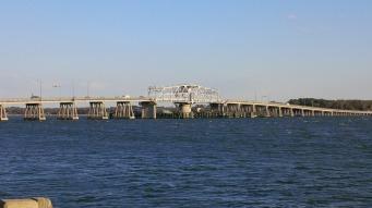 Lady's Island bridge seen from battery park.